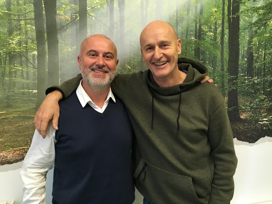 A sinistra Claudio Venturini, a destra Adrian Sgarabottolo